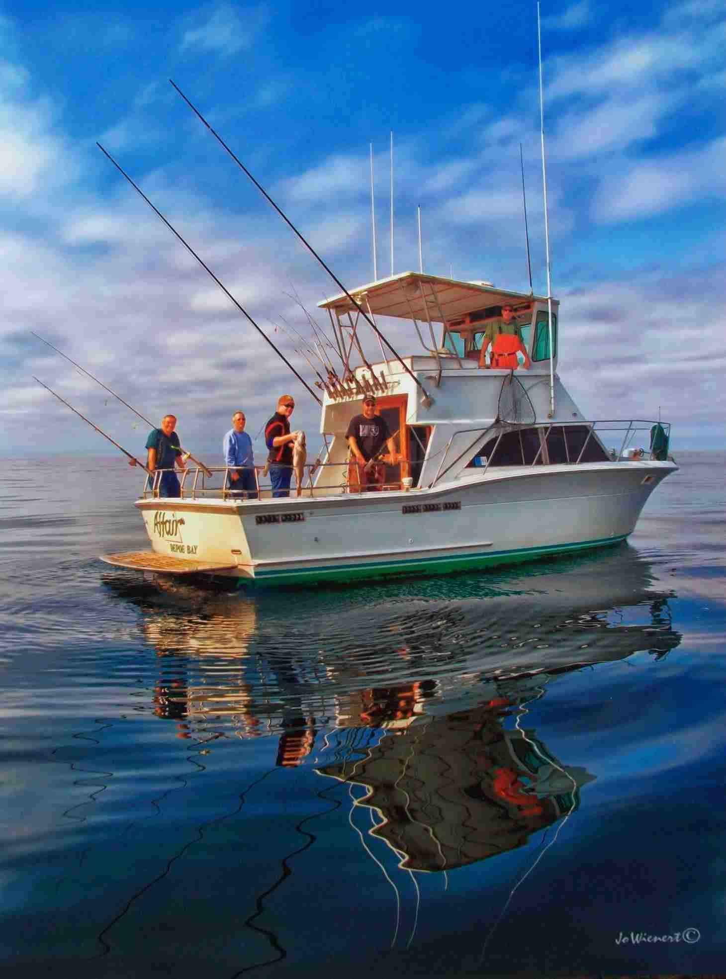 tuna fishing chartersAll Days are Like This at Dockside (well, almost)