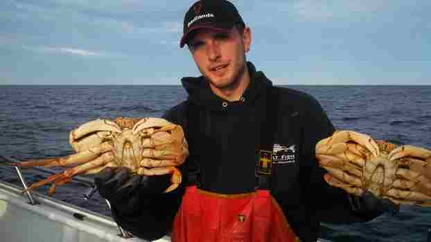 James with Crabs